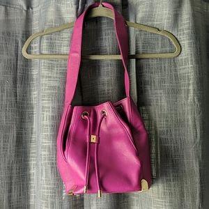 Vince Camuto Pink Purple Janet Bucket Bag Purse